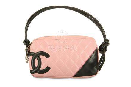 Chanel Pink Ligne Cambon Pochette, c. 2004, quilted leather