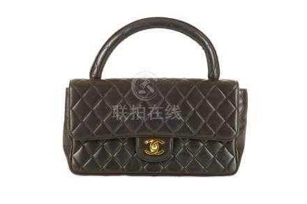Chanel Black Kelly Handbag, c. 1991-94, quilted lambskin wit