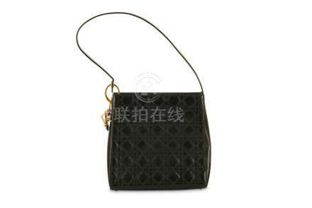 Christian Dior Patent Shoulder Bag, structuredpatent leathe