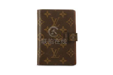 Louis Vuitton Agenda Cover, monogram canvas, 10cm wide, 14.5