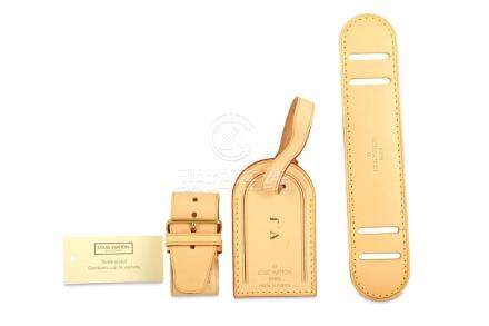 Louis Vuitton Vachette Luggage Tag Set, to include a luggage