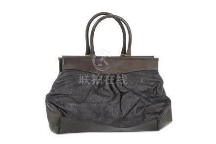 Liberty Grey Leather Iphis Embossed Bag, iconic Iphis print