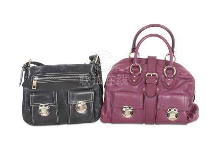 Two Marc Jacobs Handbags, to include a purple leather bowlin