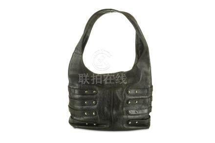 Jimmy Choo Black Leather Shoulder Bag, silver tone hardware,