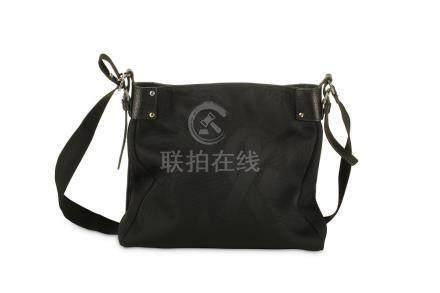Yves Saint Laurent Black Messenger Bag, canvas with body wit