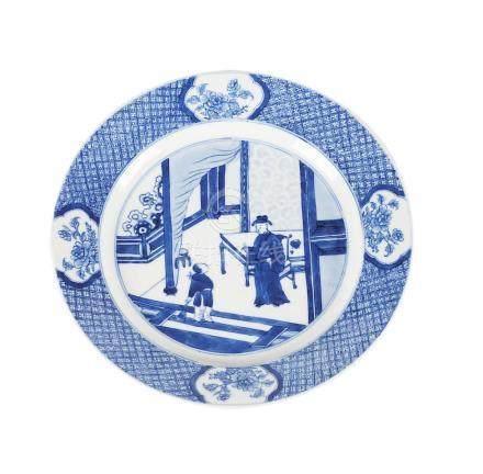 Chinese Kangxi porcelain dish, 18th Century.