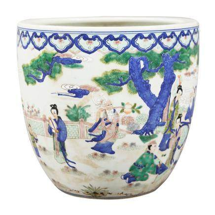 Chinese porcelain jardiniere, first half of the 20th Century