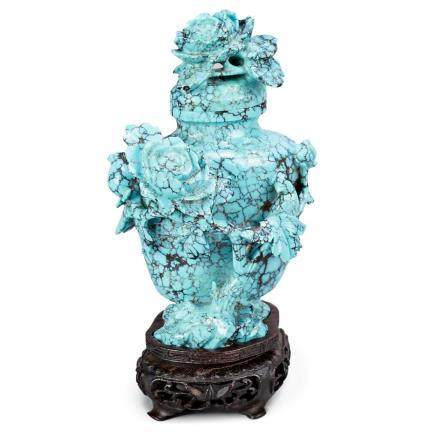 Chinese potiche in turquoise, 20th Century.