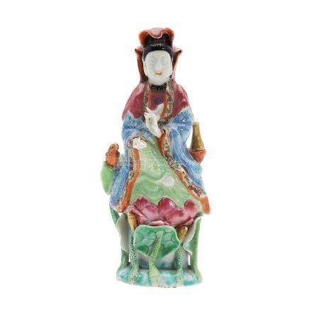 """""""Guanyin"""", Chinese porcelain sculpture, early 19th Century."""