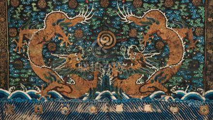 A Chinese embroided panel