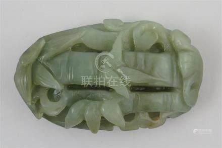 Chine. - Galet en jade. - Long. 8.5 cm. -