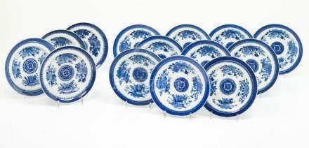 A set of three soup plates