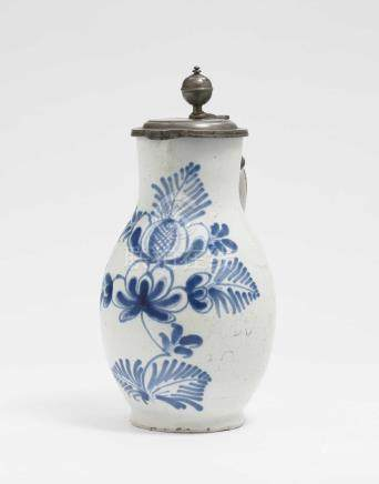 A pear-shaped jug Hanau, 18th century