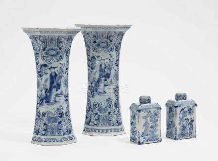 A pair of vases Delft, 18th century