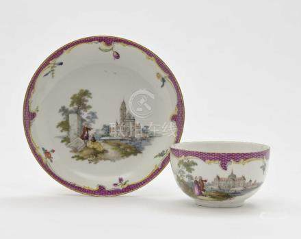 A cup and saucer Meissen, third quarter of the 18th century