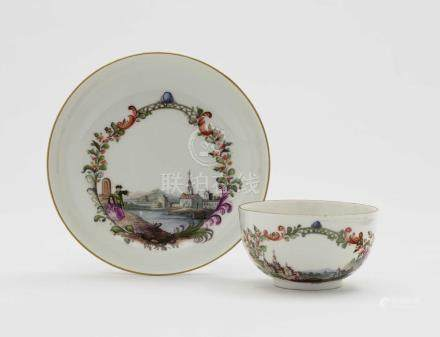 A cup and saucer Meissen, 2nd half of the 18th century