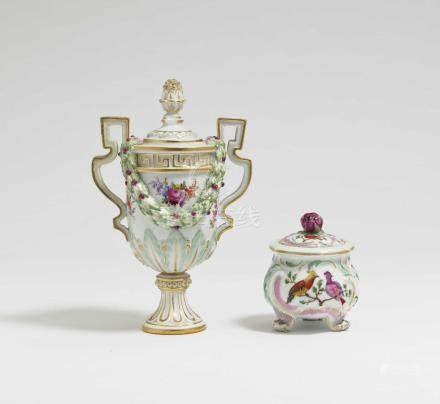 A small lidded vase Meissen