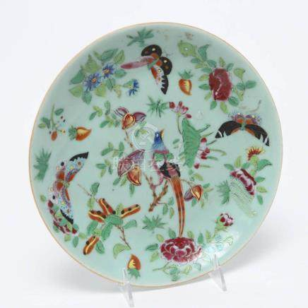Chinese Qing Dynasty Porcelain Plate, Antique