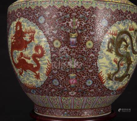 Early 20th Century-A Famille Glazed 'Five Dragon' Double Han