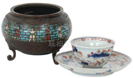 Incense burner with cup & saucer.