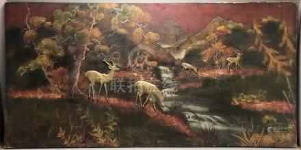 P. HOANG (?) (XXe siècle). Ecole des Arts Appliqués de Thu Dau Môt (?). Grand p