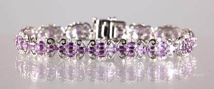 GIA & AIG Certifed Rare Pink Sapphire 18K Bracelet