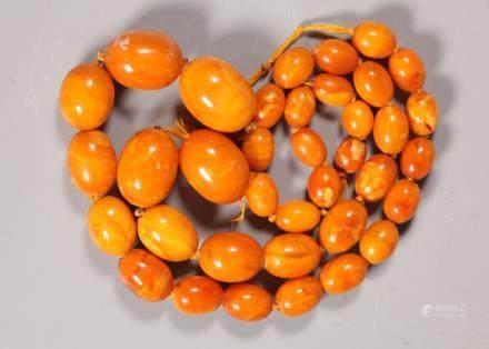 Butterscotch Amber Beads; Total Weight 64G