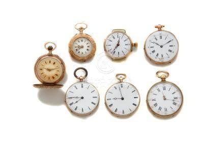 LOT de 7 montres de colPoids brut 171 gr