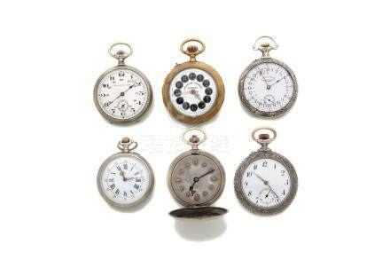 LOT de 6 montresFonds ornés de décors en relation avec diverses administrations
