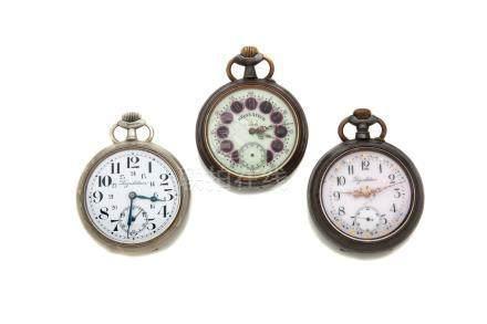 LOT de 3 regulateurs des Chemins de fer.Vers 1900.