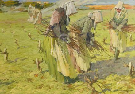 L. Raoul GUIRAUD (1888-1976).    L'enlèvement des sacrements (Bretagne).    Hui