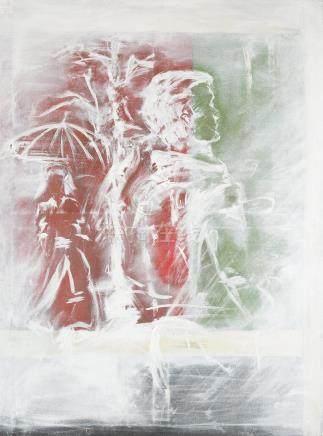 Attribué à Jean- Pierre PINCEMIN (1944-2005).    Composition.    Huile sur toil