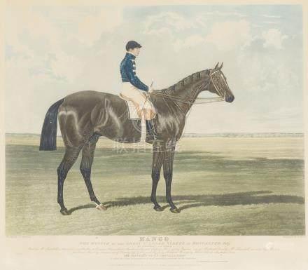 - LOT de DEUX GRAVURES sur le cheval:     The High Mettled Racer. In training.