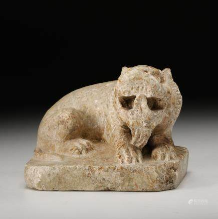CHINESE MARBLE CARVED FIGURE OF BEAST