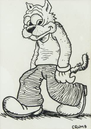 Robert Crumb b.1943 American Ink on Paper