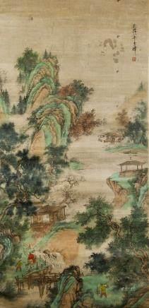 Li Shan 1686-1756 Chinese Watercolor Landscape