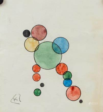 Wassily Kandinsky Russian Modernist Ink & WC