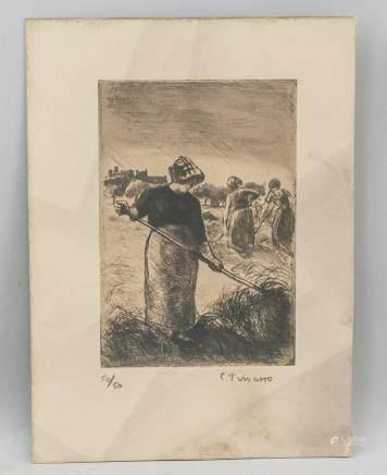 Camille Pissarro Signed Lithograph 50/50