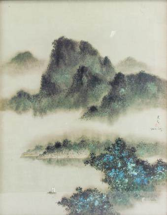 David Lee Modern Chinese American Lithograph