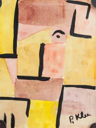 Paul Klee 1879-1940 Swiss Watercolor Paper