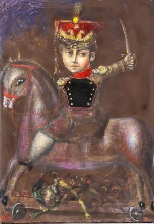 Andrei Medvedev b. 1960 Russian OOC Horseman