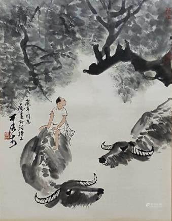Chinese Scroll Painting,Li Keran(1907-1989)