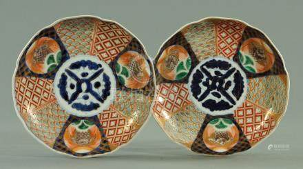 A pair of Japanese dished plates, circa 1880,