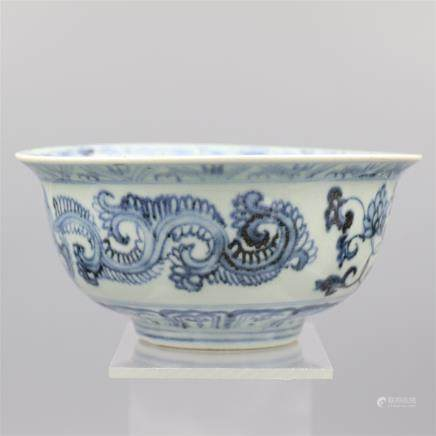 Chinese Blue-White Porcelain Bowl.
