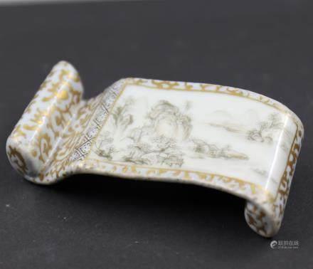 Chinese Porcelain Ink Holder.