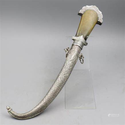 JAMBIYA Mounted the Horn with Silver Fittings.