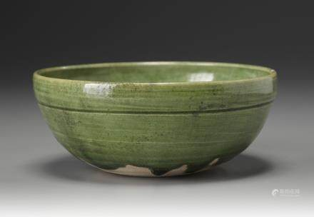 A Chinese green lead-glazed bowl