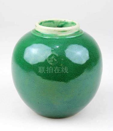 Chinesische Porzellanvase, Kangxi-Periode (1661-1722), kugelförmiger Korpus, Porzellan weißer
