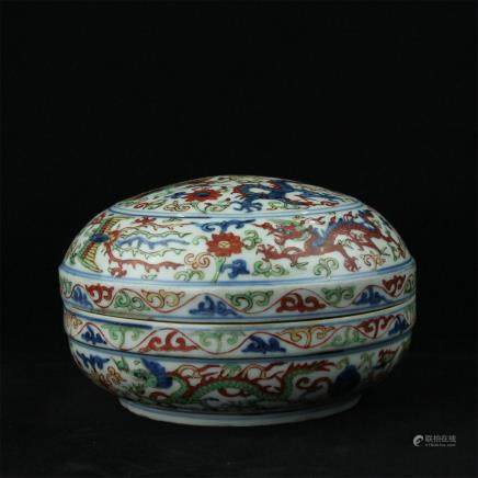 A Chinese Dou-Cai Porcelain Bowl with Cover