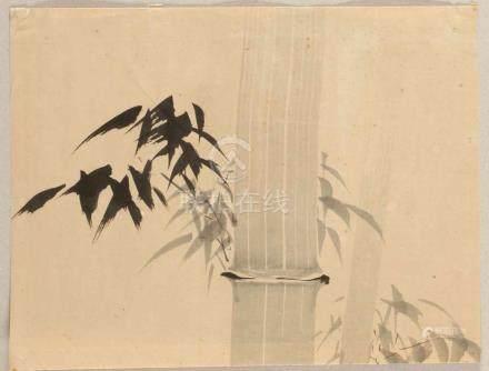 """Japanischer Künstler des 20. Jahrhunderts- """"Bambus"""" - Tusche/Papier. 32 x 42 cm. Unter"""